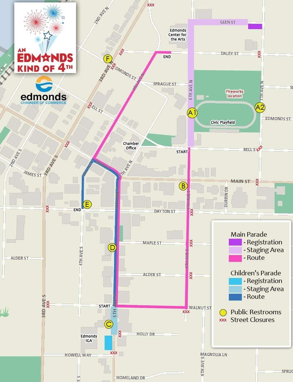 Edmonds Main Parade Map