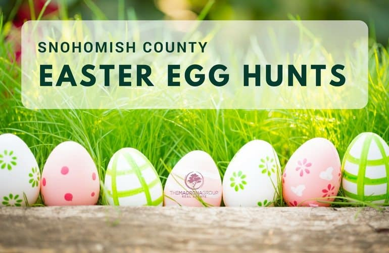 Easter Egg hunts in snohomish county We all know that Easter is about much more than just looking for hidden eggs and baskets full of scrumptious treats.  But that does not mean that we can't have a little fun as well.