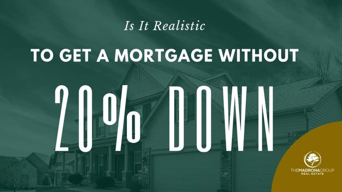 Is it realistic to get a mortgage without 20% Down