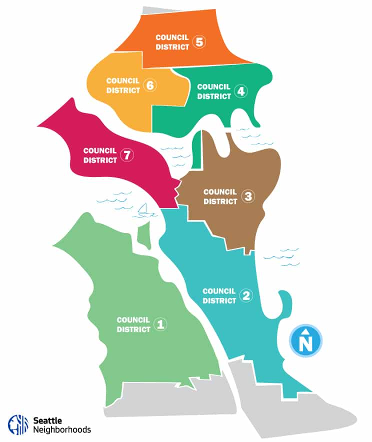 Seattle Neighborhoods and Council Districts